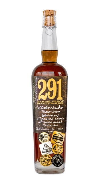 291 Colorado Rye Whiskey Small Batch Finished With Aspen Wood Staves